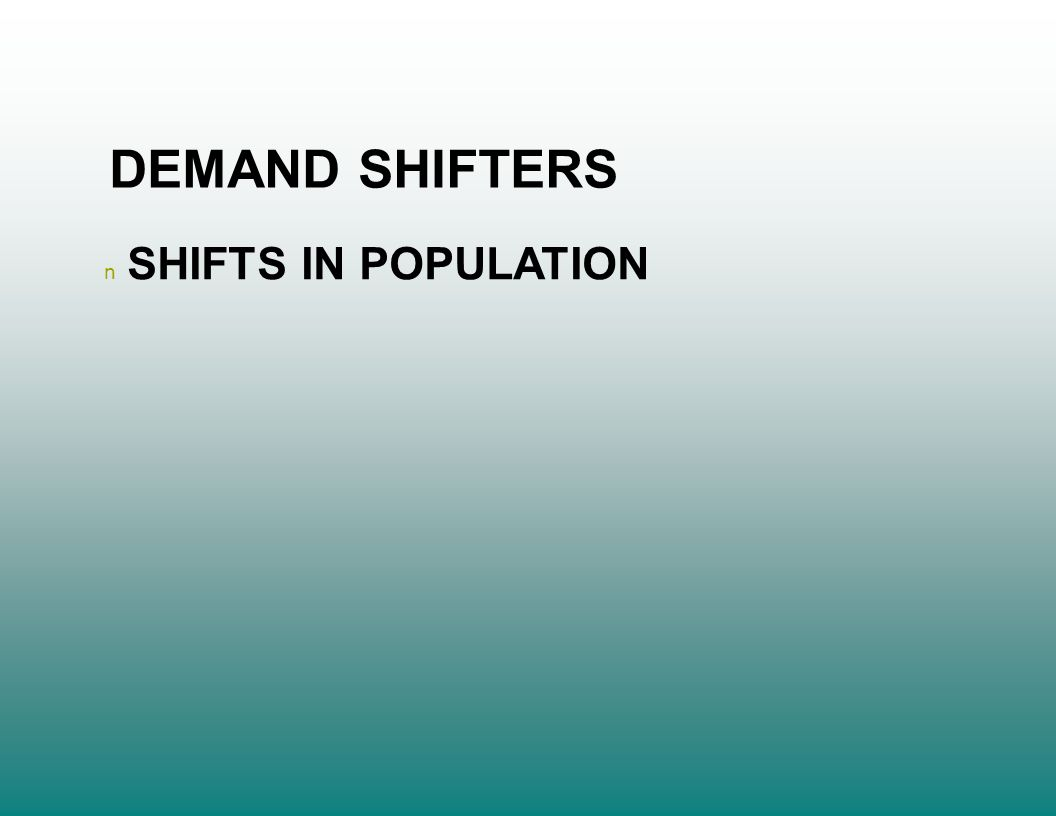 n SHIFTS IN POPULATION