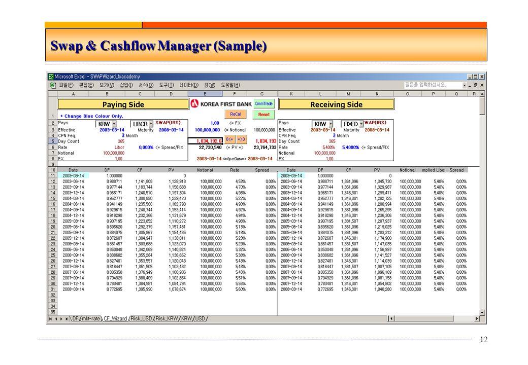 12 Swap & Cashflow Manager (Sample)
