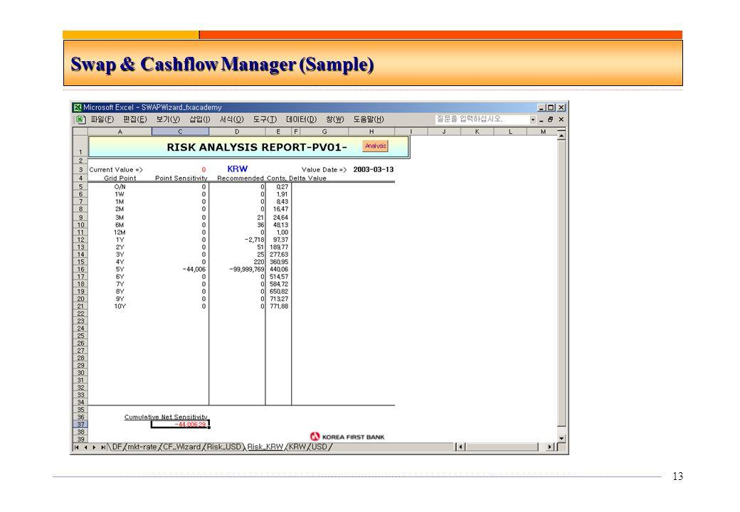 13 Swap & Cashflow Manager (Sample)