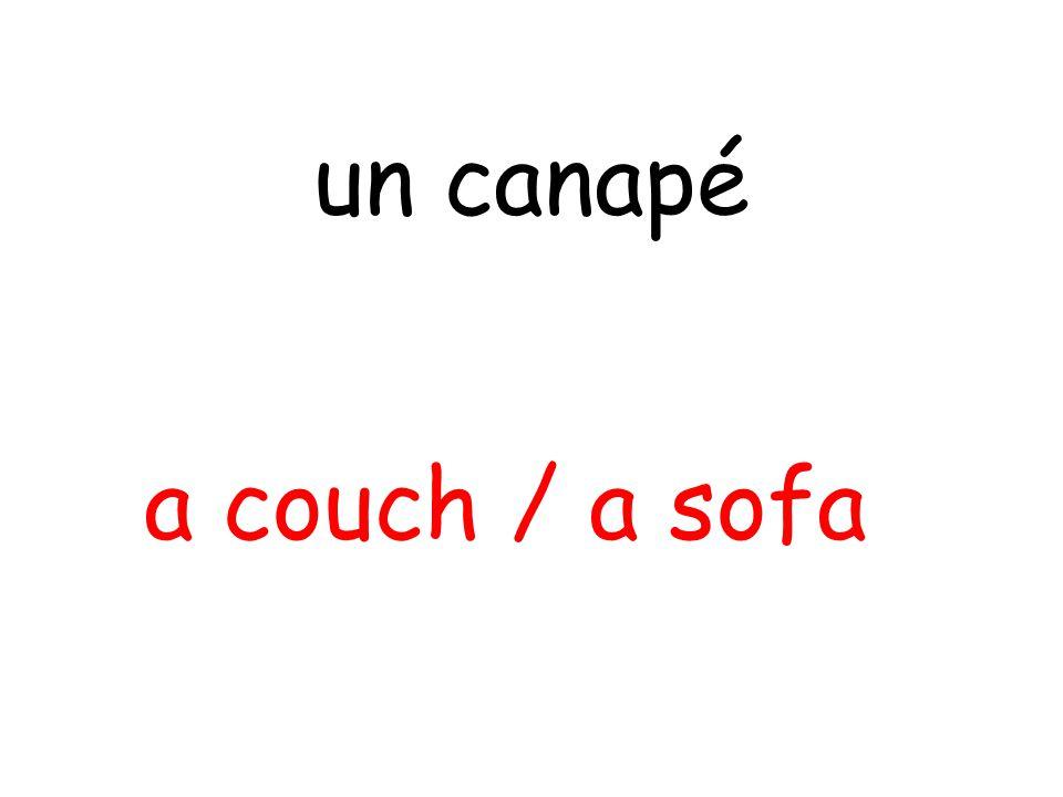 a couch / a sofa un canapé
