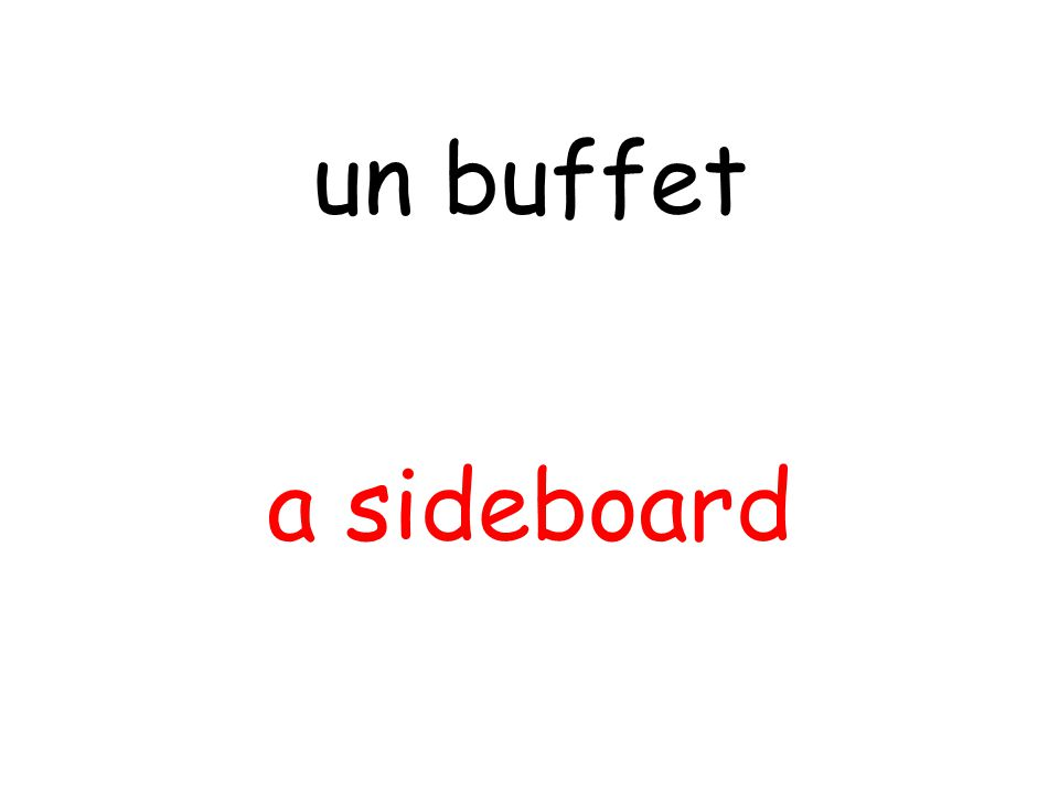 a sideboard un buffet