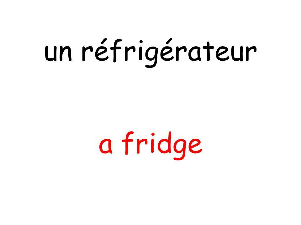 a fridge un réfrigérateur