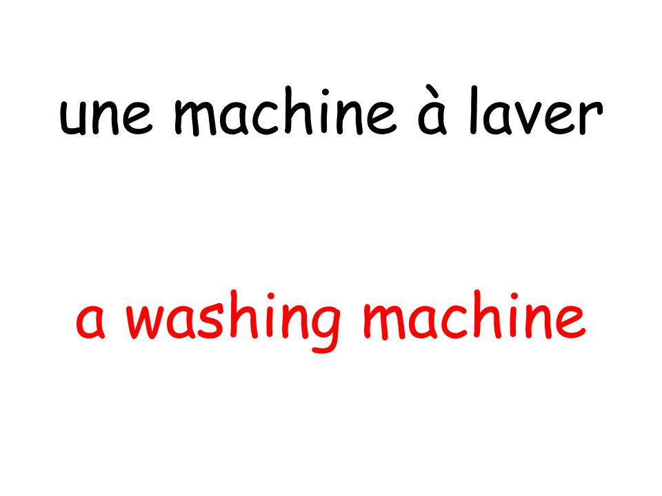 a washing machine une machine à laver