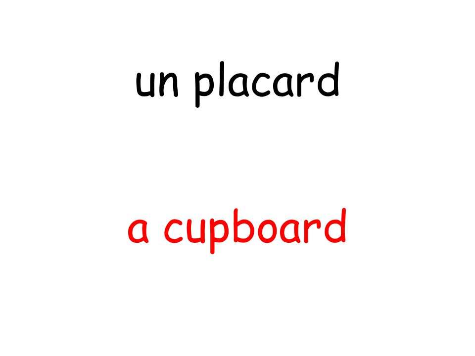 a cupboard un placard