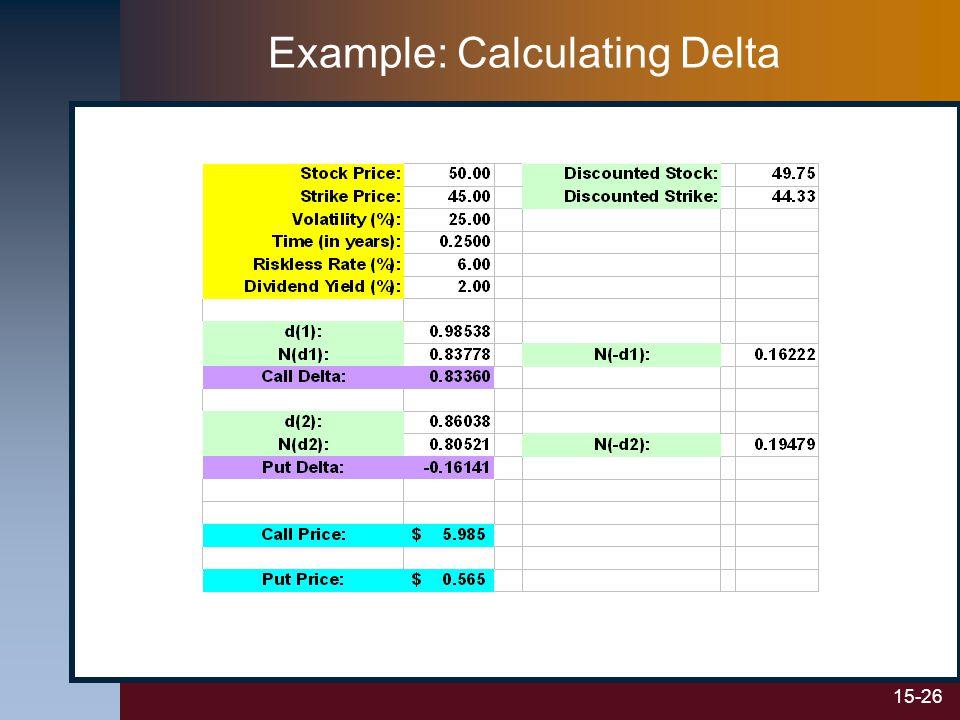 15-26 Example: Calculating Delta