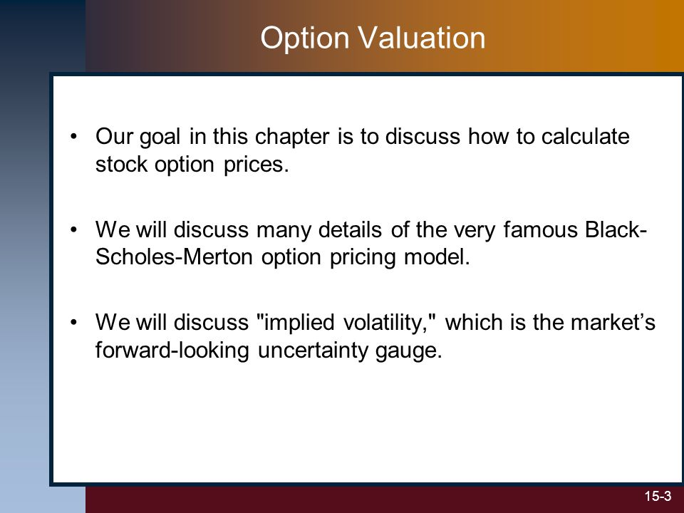 15-14 We can Verify Our Results Using a Version of Put-Call Parity Note: The options must have European-style exercise.