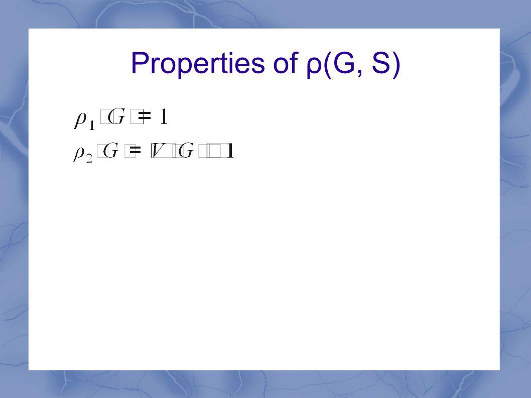 Properties of ρ(G, S)