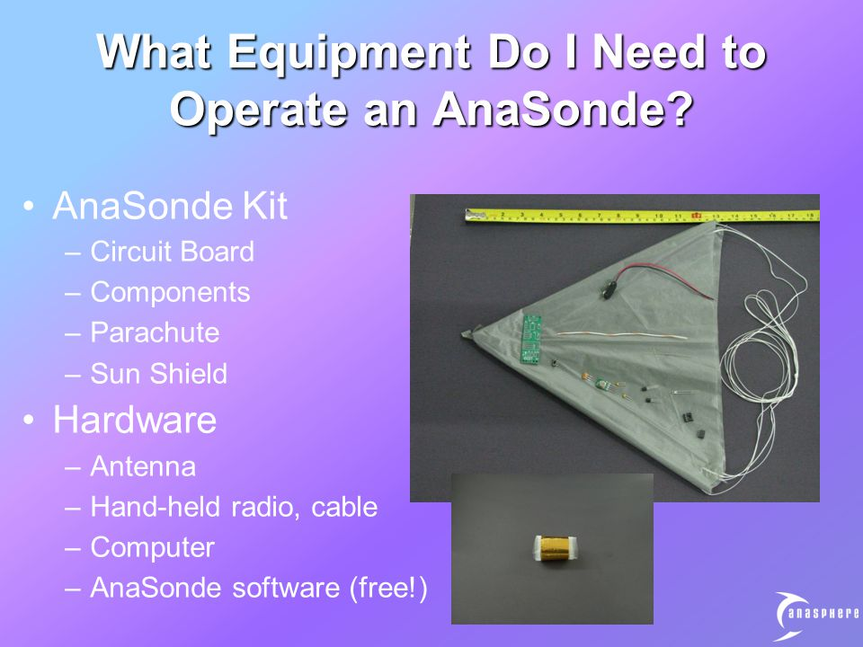 What Equipment Do I Need to Operate an AnaSonde.