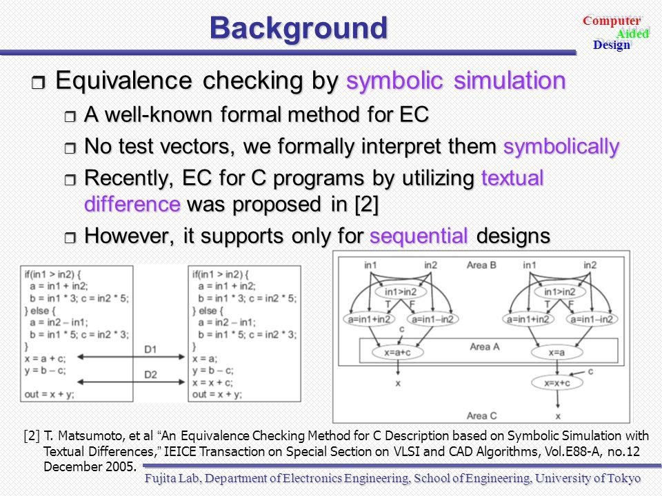Computer Design Aided Computer Design Aided Fujita Lab, University of Tokyo Thank you Q & A