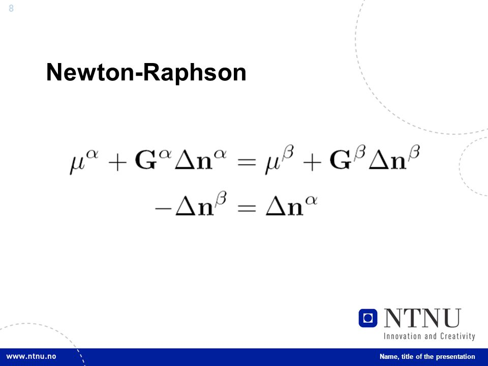 9 Newton-Lagrange-Euler Name, title of the presentation