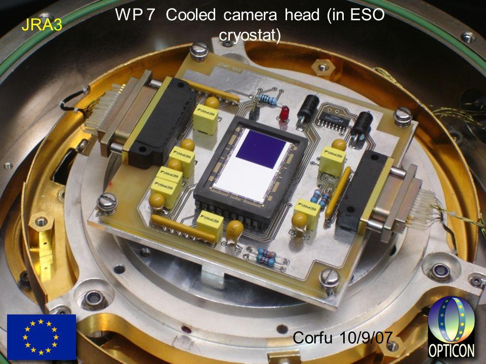 JRA3 Corfu 10/9/07 WP 7 Cooled camera head (in ESO cryostat)