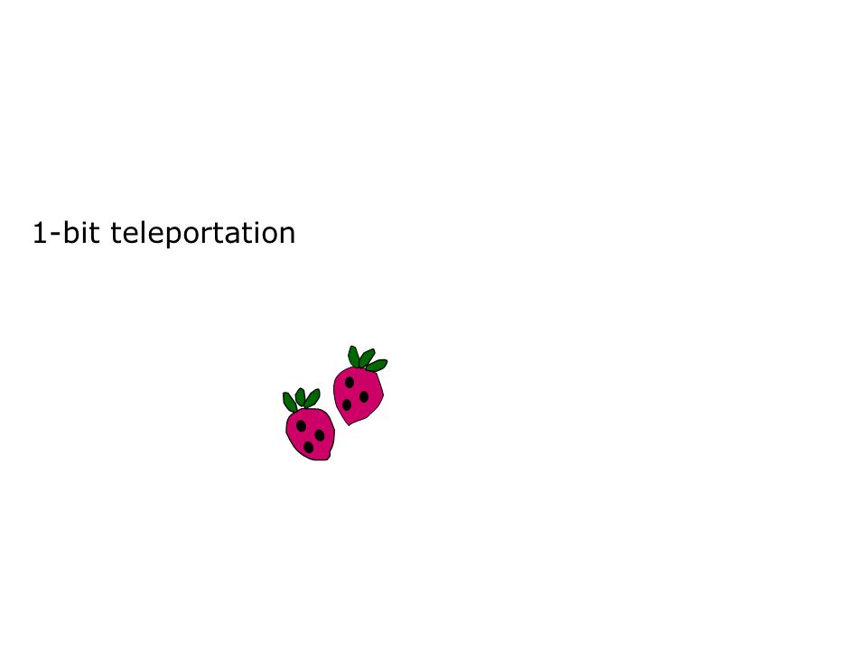 1-bit teleportation