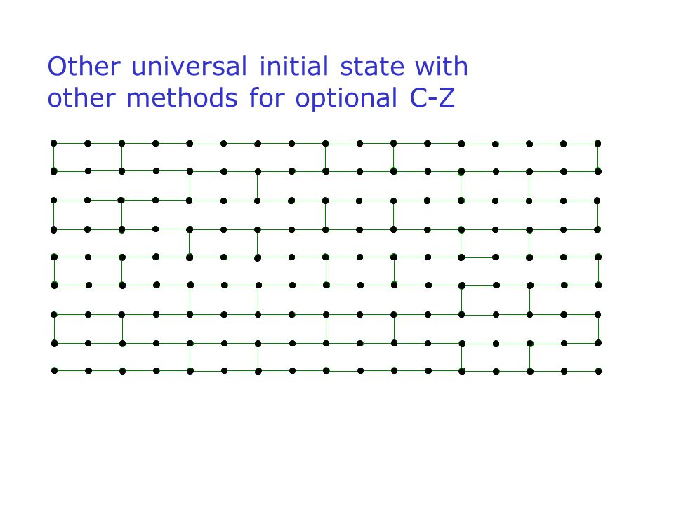 Other universal initial state with other methods for optional C-Z
