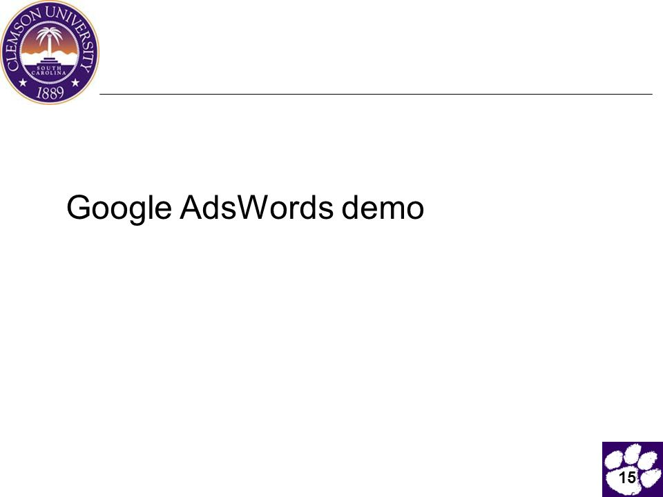 15 Google AdsWords demo