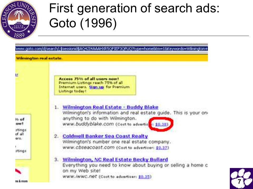 8  Buddy Blake bid the maximum ($0.38) for this search.