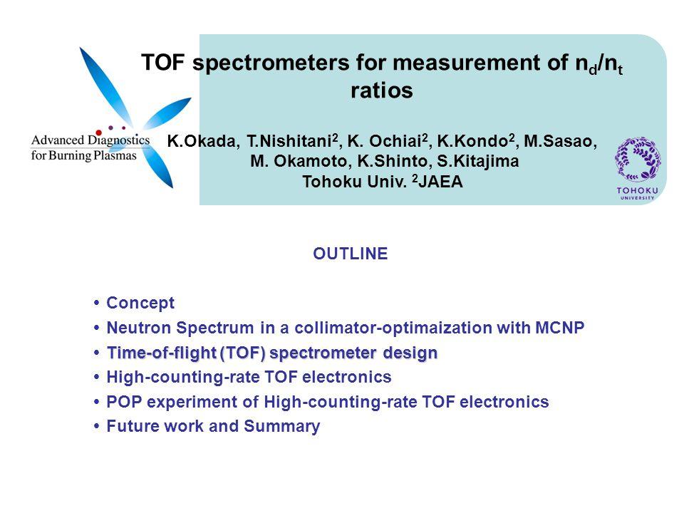 TOF spectrometers for measurement of n d /n t ratios K.Okada, T.Nishitani 2, K.