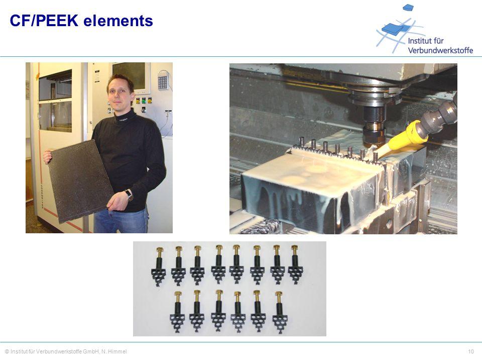 10© Institut für Verbundwerkstoffe GmbH, N. Himmel CF/PEEK elements