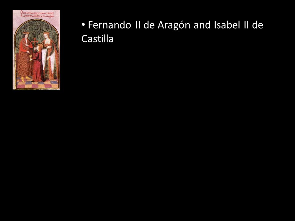 Fernando II de Aragón and Isabel II de Castilla