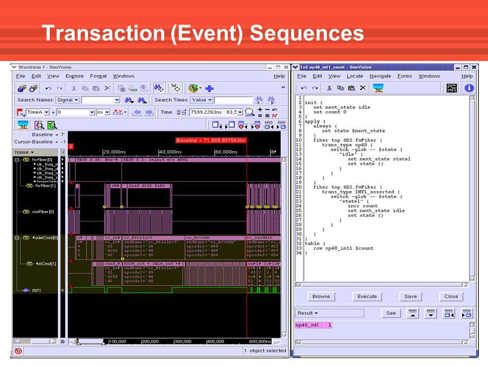 Transaction (Event) Sequences