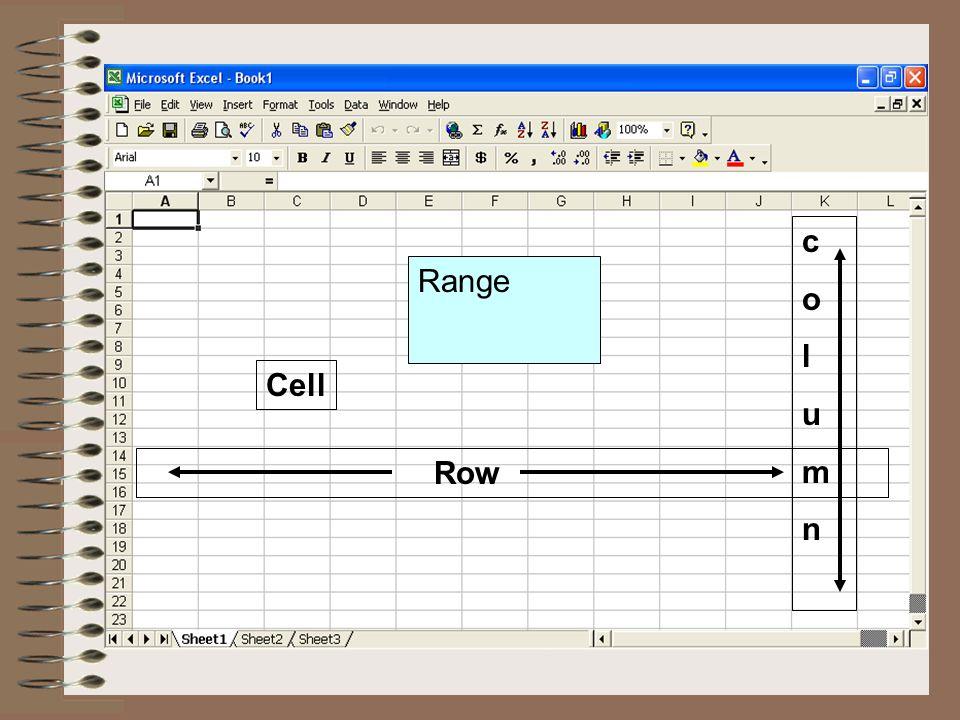 Cell Row columncolumn Range