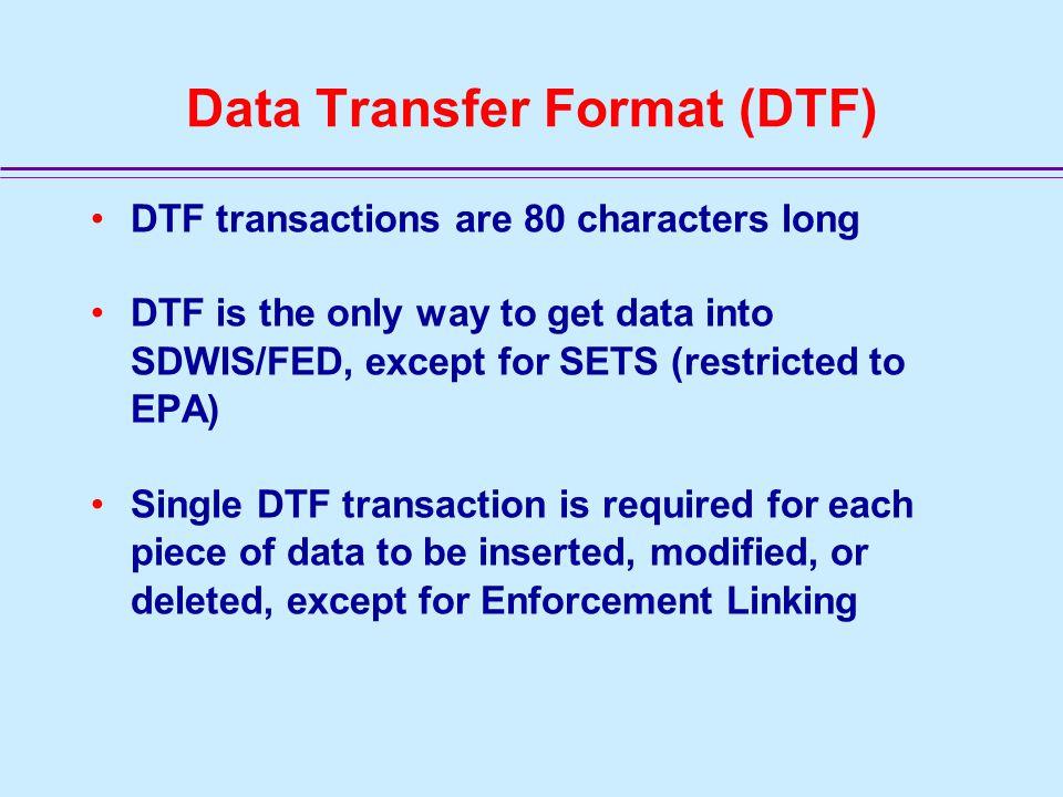 PP NN Public Notification Data Transfer Format (DTF)