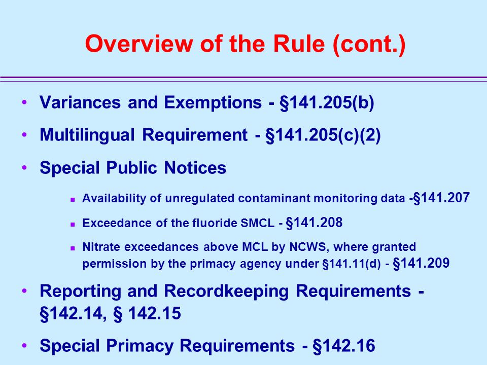 General Public Notification Requirements - §141.201 Who must give public notice.