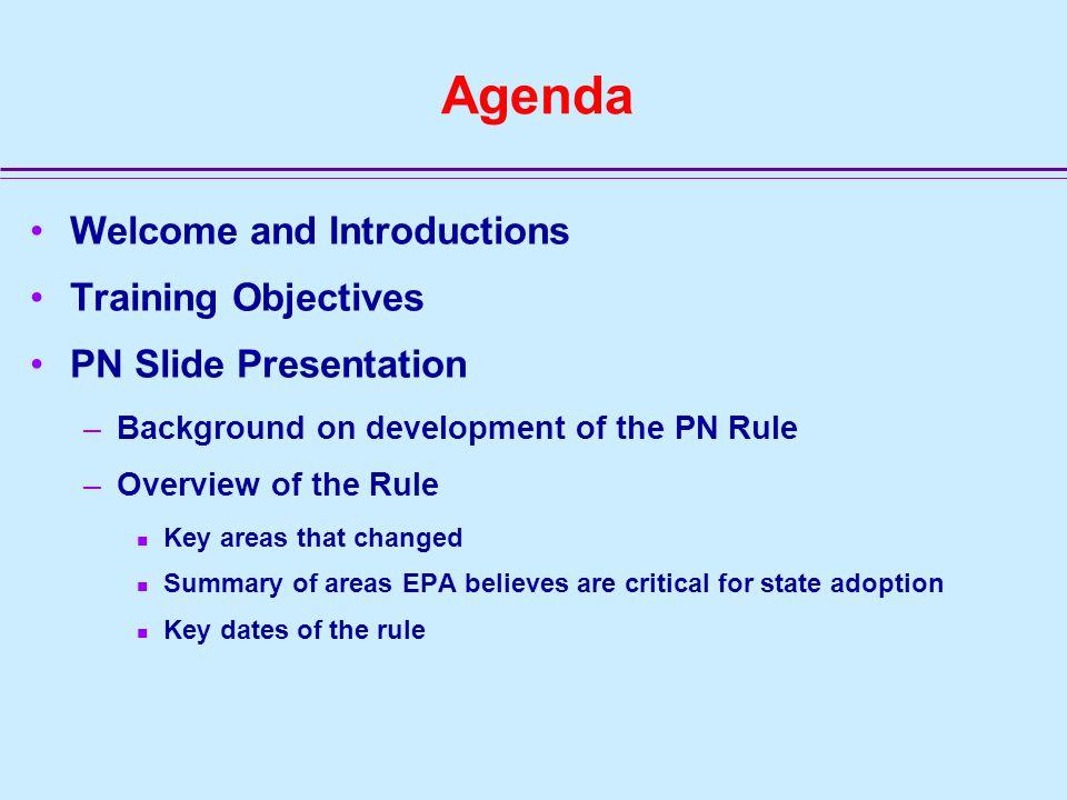 PP NN Public Notification Rule State-EPA Training