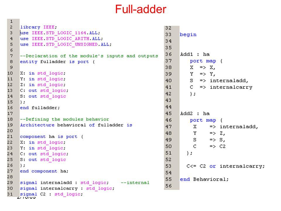 2/16/09 Full-adder