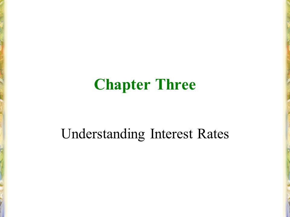 Chapter Three Understanding Interest Rates