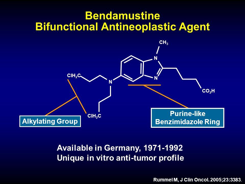 Bendamustine Bifunctional Antineoplastic Agent Rummel M, J Clin Oncol.