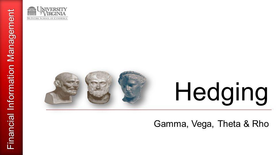 Financial Information Management Hedging Gamma, Vega, Theta & Rho