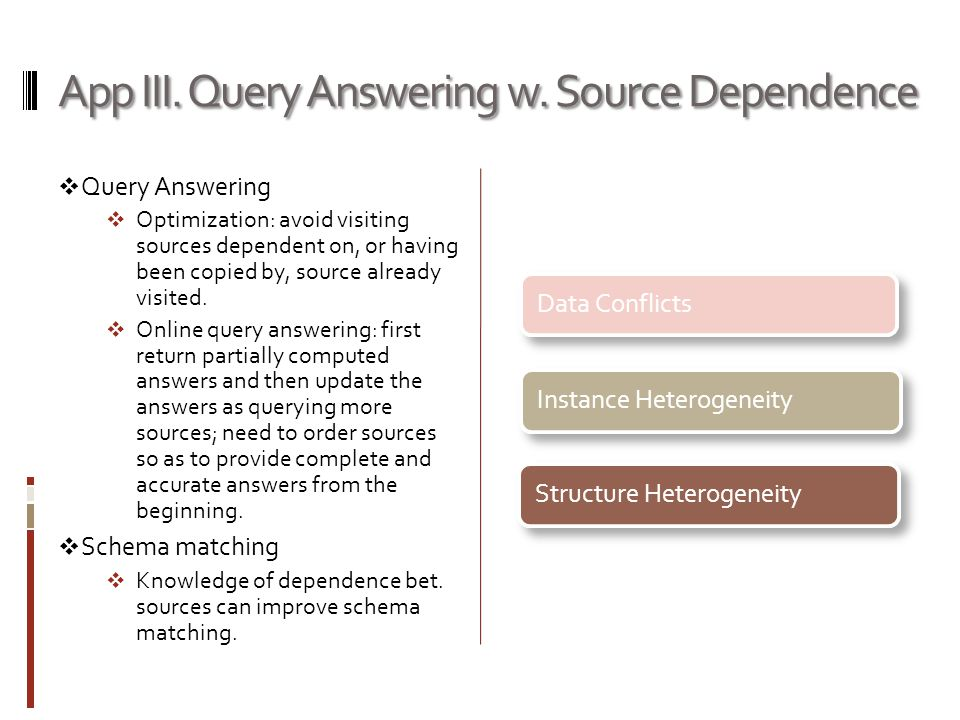 App III. Query Answering w.