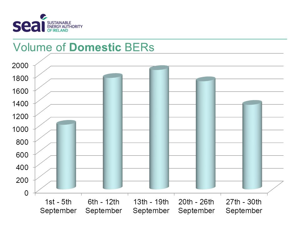 Volume of Domestic BERs