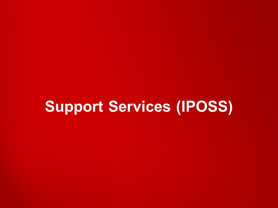 Support Services (IPOSS)