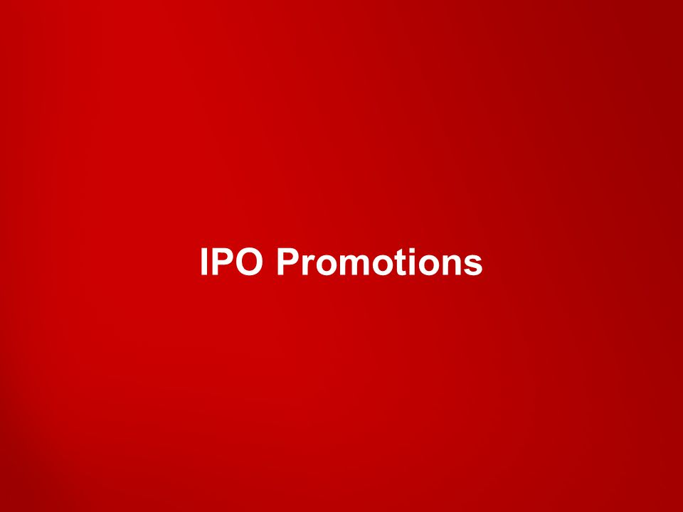 IPO Promotions