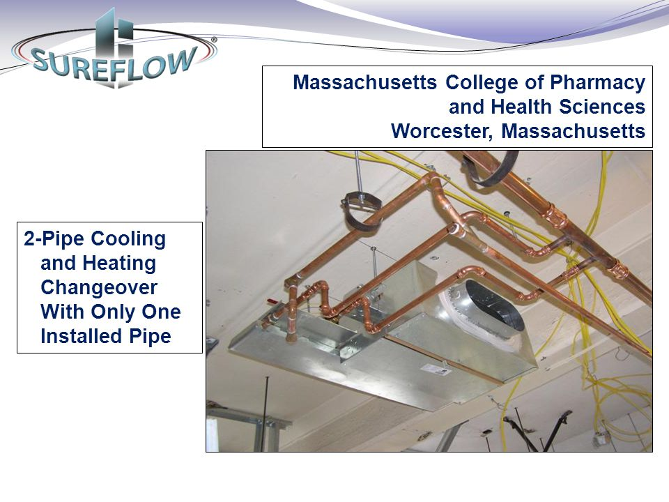 2-Pipe Cooling and Heating Changeover With Only One Installed Pipe Massachusetts College of Pharmacy and Health Sciences Worcester, Massachusetts