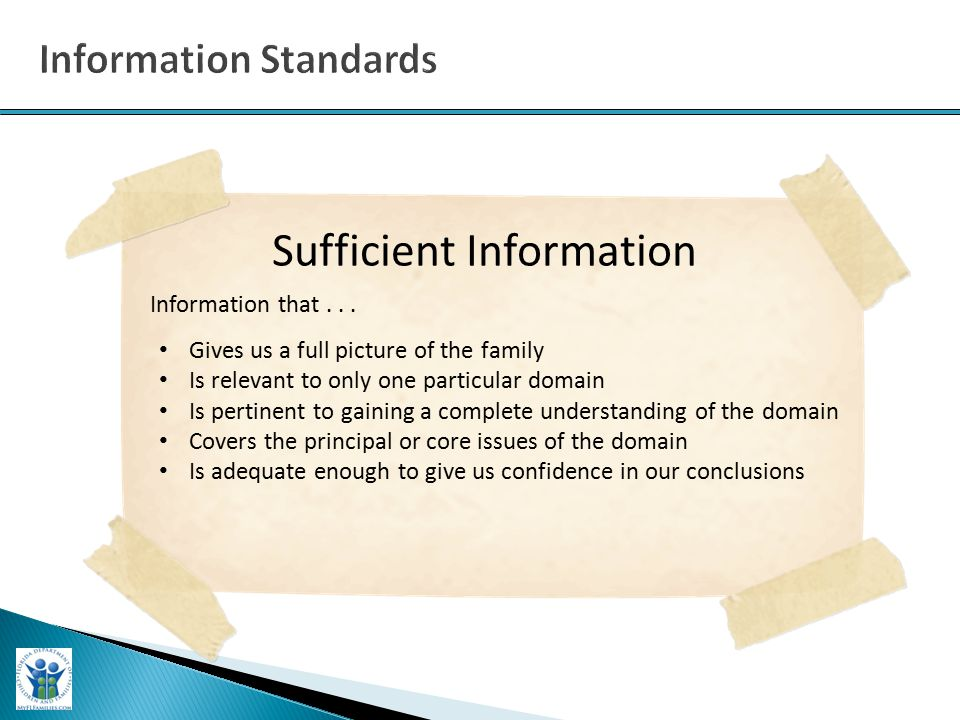 Sufficient Information Information that...