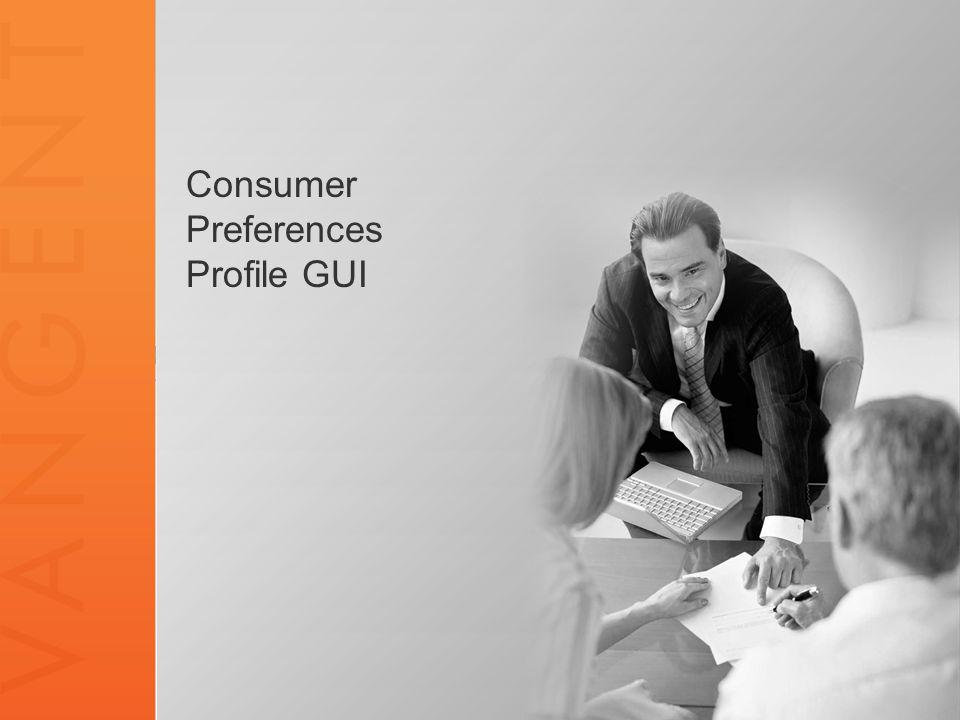 Consumer Preferences Profile GUI