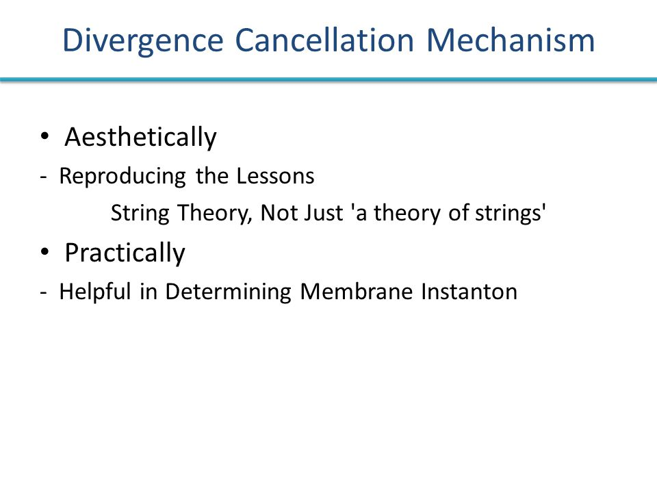 Divergence Cancellation Mechanism Aesthetically - Reproducing the Lessons String Theory, Not Just 'a theory of strings' Practically - Helpful in Deter