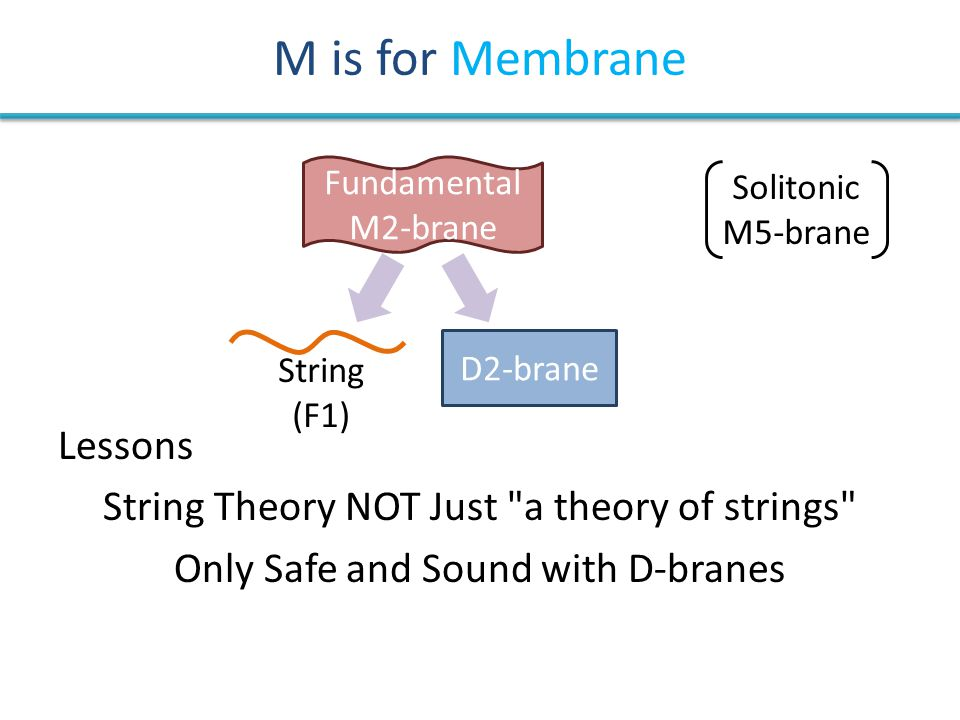 M is for Membrane Lessons String Theory NOT Just