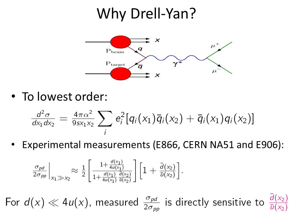 Extracting d-bar/-ubar From Drell-Yan Scattering E906 expects systematic uncertainty to remain at approx.