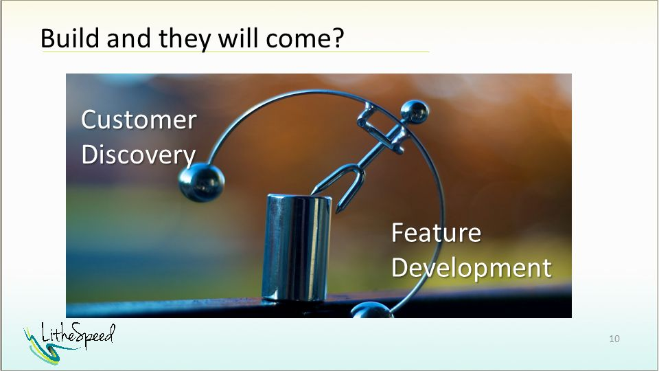 Build and they will come Customer Discovery Feature Development 10