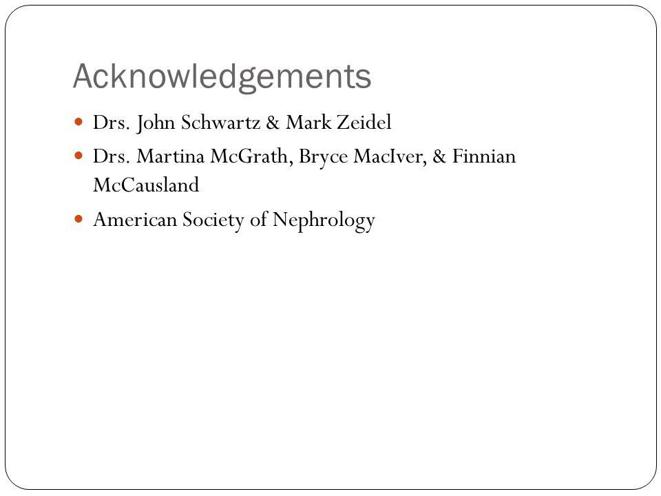 Acknowledgements Drs.John Schwartz & Mark Zeidel Drs.