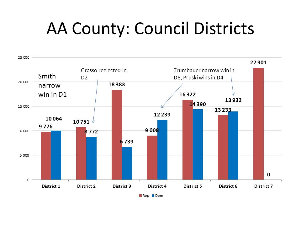 AA County: Council Districts Smith narrow win in D1