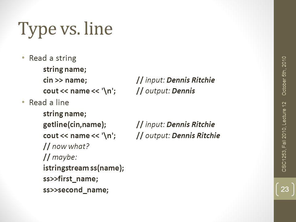 Type vs.