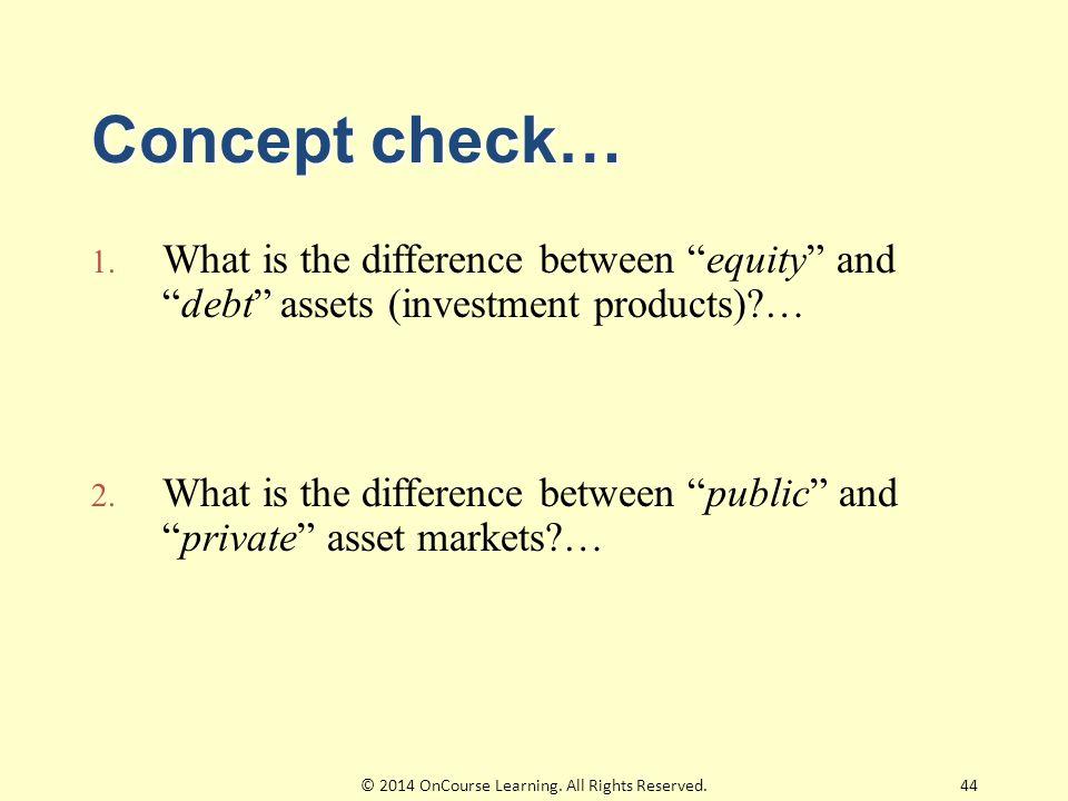 Concept check… 1.