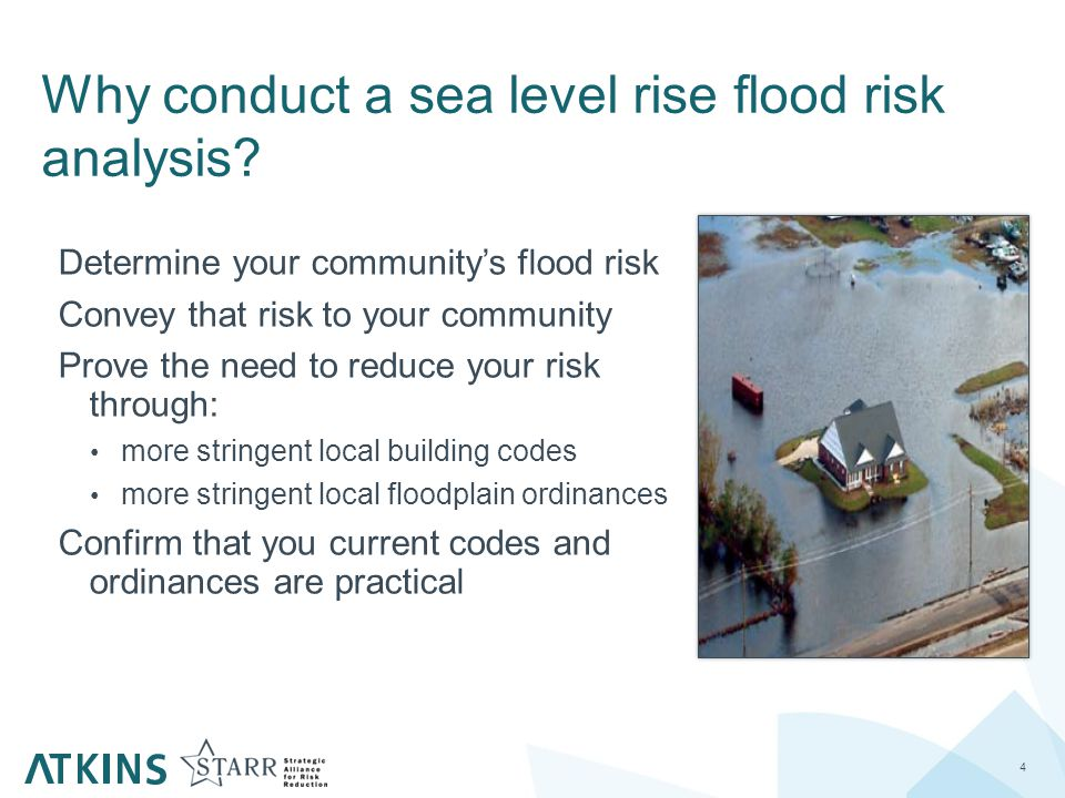 Why conduct a sea level rise flood risk analysis.