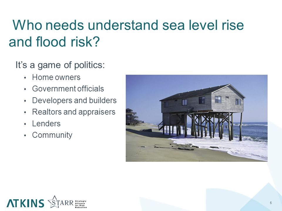 Who needs understand sea level rise and flood risk.