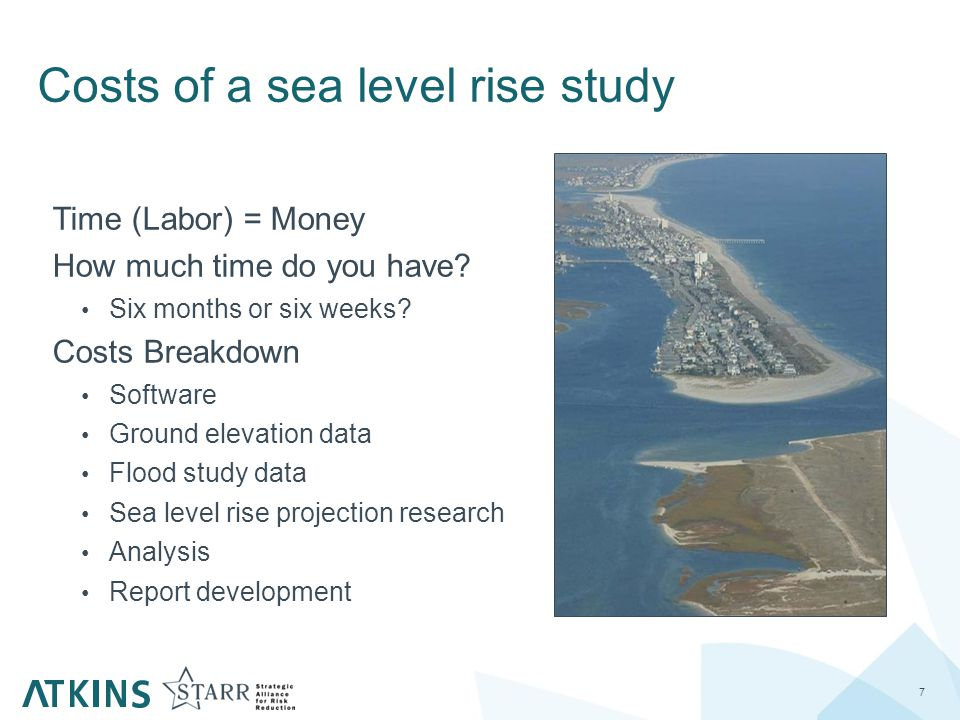 8 Our Study A Small Scale Sea Level Rise Study The Analysis