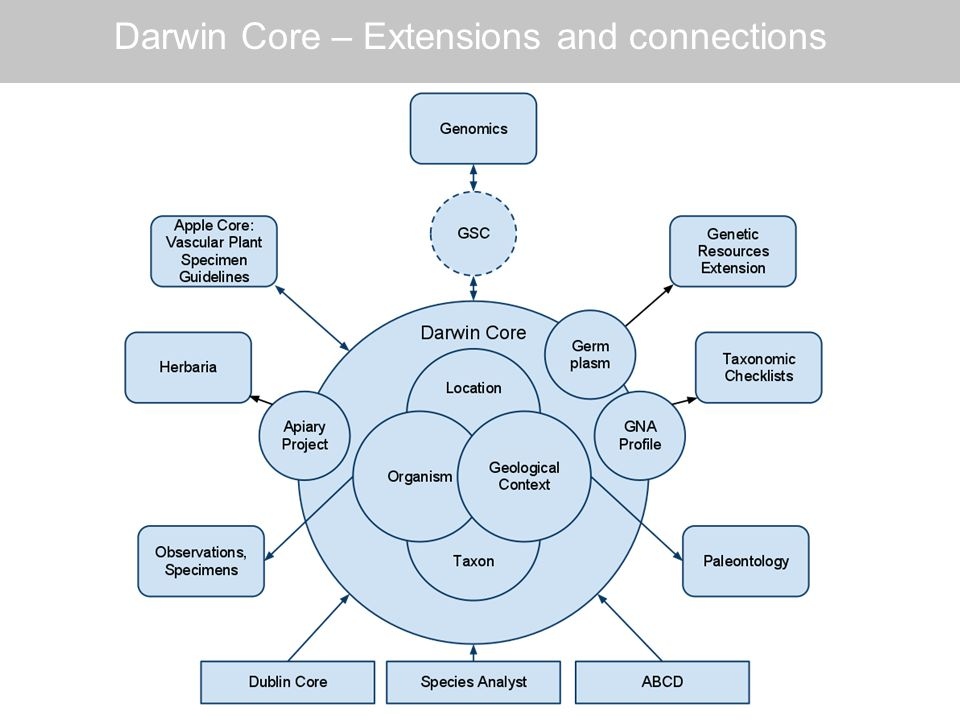 Darwin Core – Extensions and connections